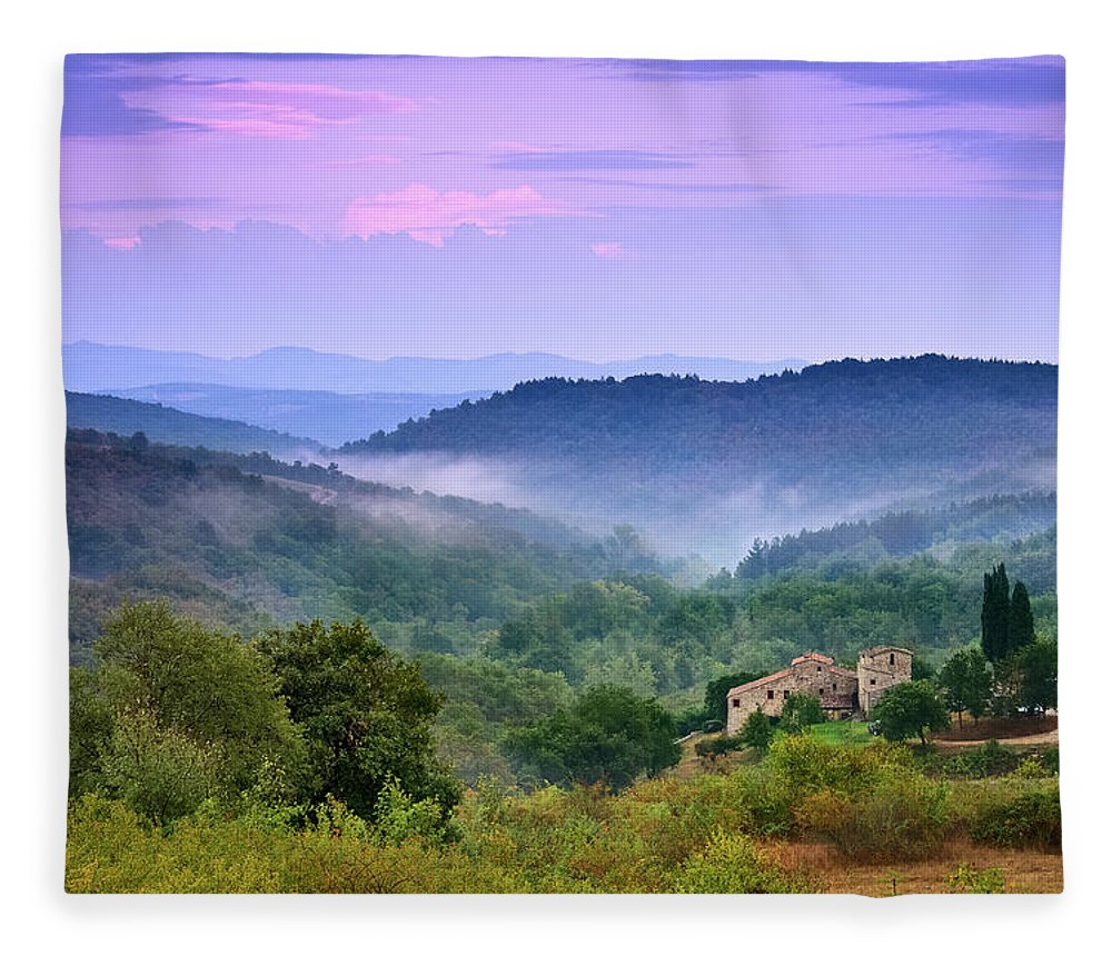 Scenics Fleece Blanket featuring the photograph Mountains by Christian Wilt