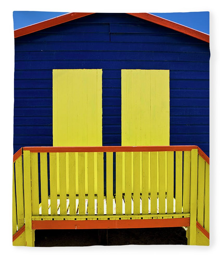 Steps Fleece Blanket featuring the photograph Muizenberg Beach by Paul Piebinga