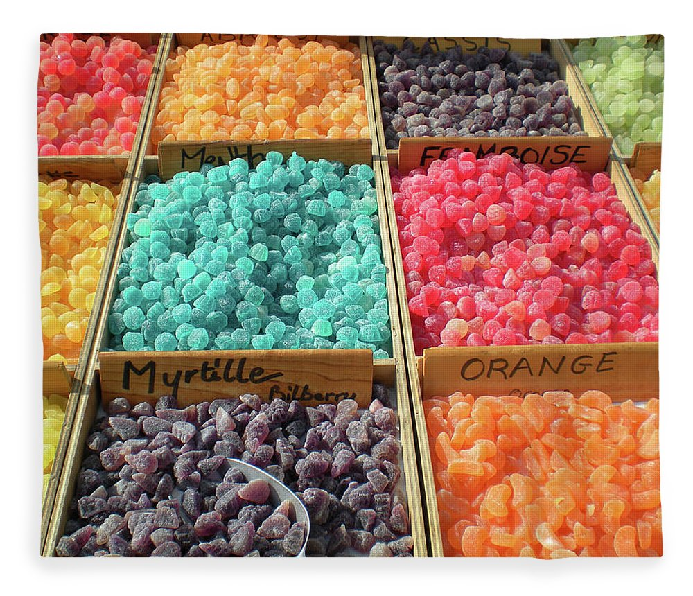 Retail Fleece Blanket featuring the photograph Myrtille Candy Mix by Paul Grand Image