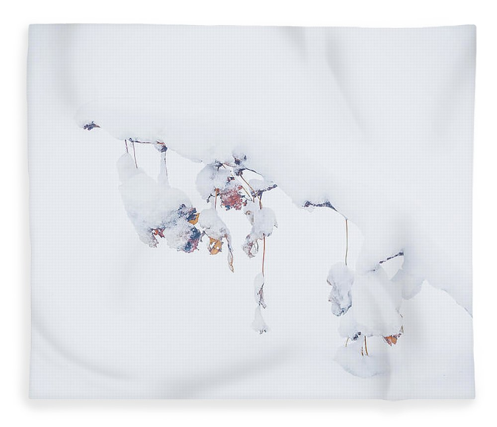 Snow Fleece Blanket featuring the photograph Nature's Ornaments by Lauri Novak