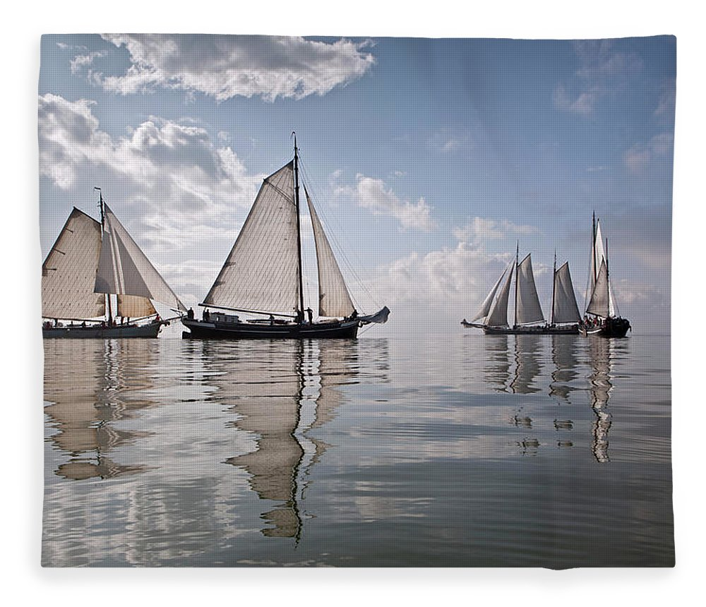 North Holland Fleece Blanket featuring the photograph Netherlands, Race Of Traditional by Frans Lemmens