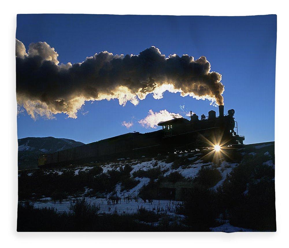 Freight Transportation Fleece Blanket featuring the photograph Nevada Sunrise by Mike Danneman