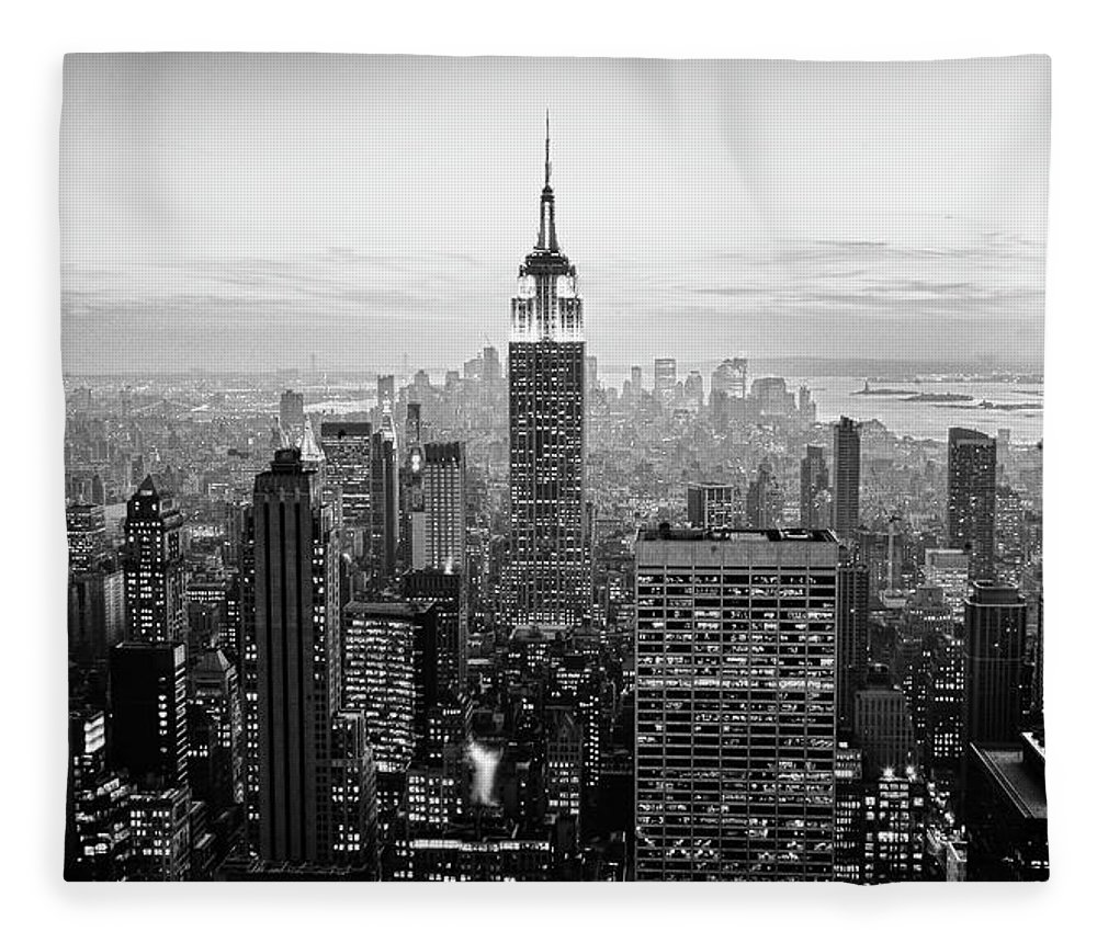 Outdoors Fleece Blanket featuring the photograph New York City by Randy Le'moine