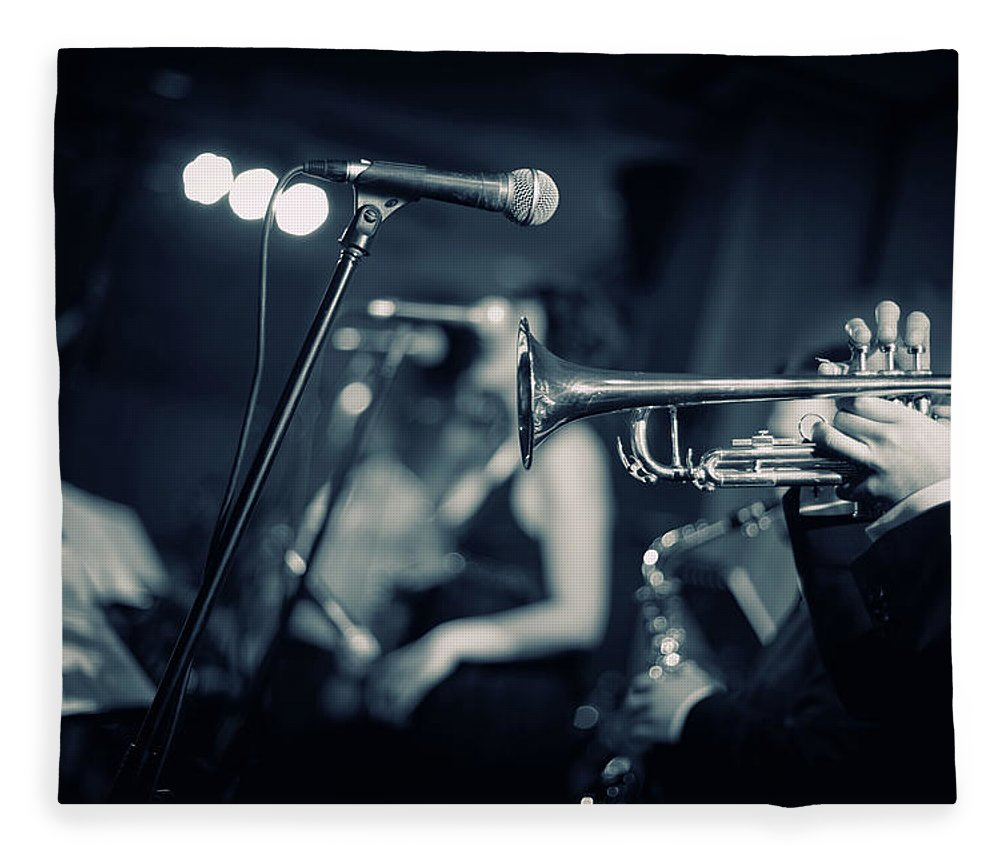 Singer Fleece Blanket featuring the photograph Night Club by Tunart