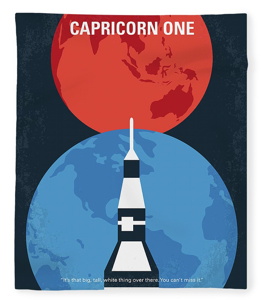 Capricorn Fleece Blanket featuring the digital art No1078 My Capricorn One Minimal Movie Poster by Chungkong Art