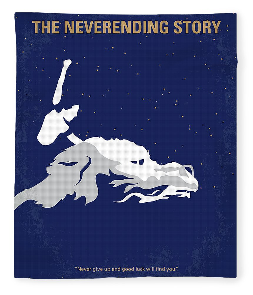 The Fleece Blanket featuring the digital art No975 My The Neverending Story Minimal Movie Poster by Chungkong Art
