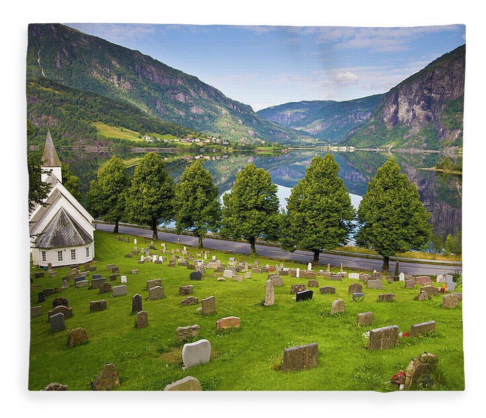 Tranquility Fleece Blanket featuring the photograph Norway by Manuel Romaris