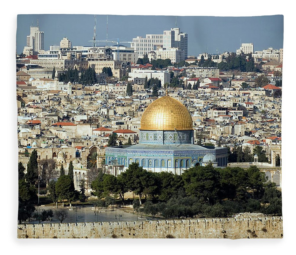 Scenics Fleece Blanket featuring the photograph Old City Of Jerusalem by Claudiad