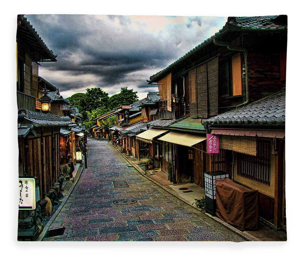 Tranquility Fleece Blanket featuring the photograph Old Kyoto by Copyright Artem Vorobiev