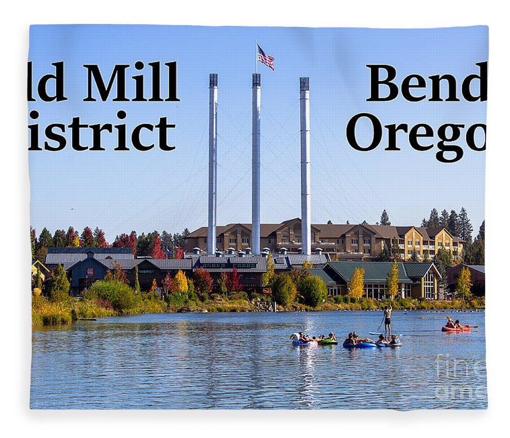 Old Mill District Fleece Blanket featuring the photograph Old Mill District Bend Oregon by G Matthew Laughton