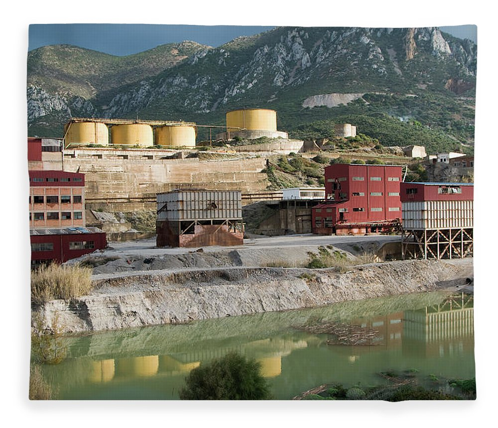 Tranquility Fleece Blanket featuring the photograph Old Mine Of Galena And Calamine by Aldo Pavan