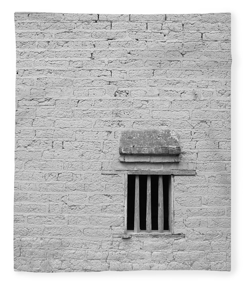 Toughness Fleece Blanket featuring the photograph Old Prison by Blackred