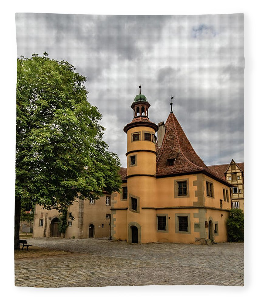 Rothenburg Germany Fleece Blanket featuring the photograph Old Rothenburg Ob Tauber by Norma Brandsberg
