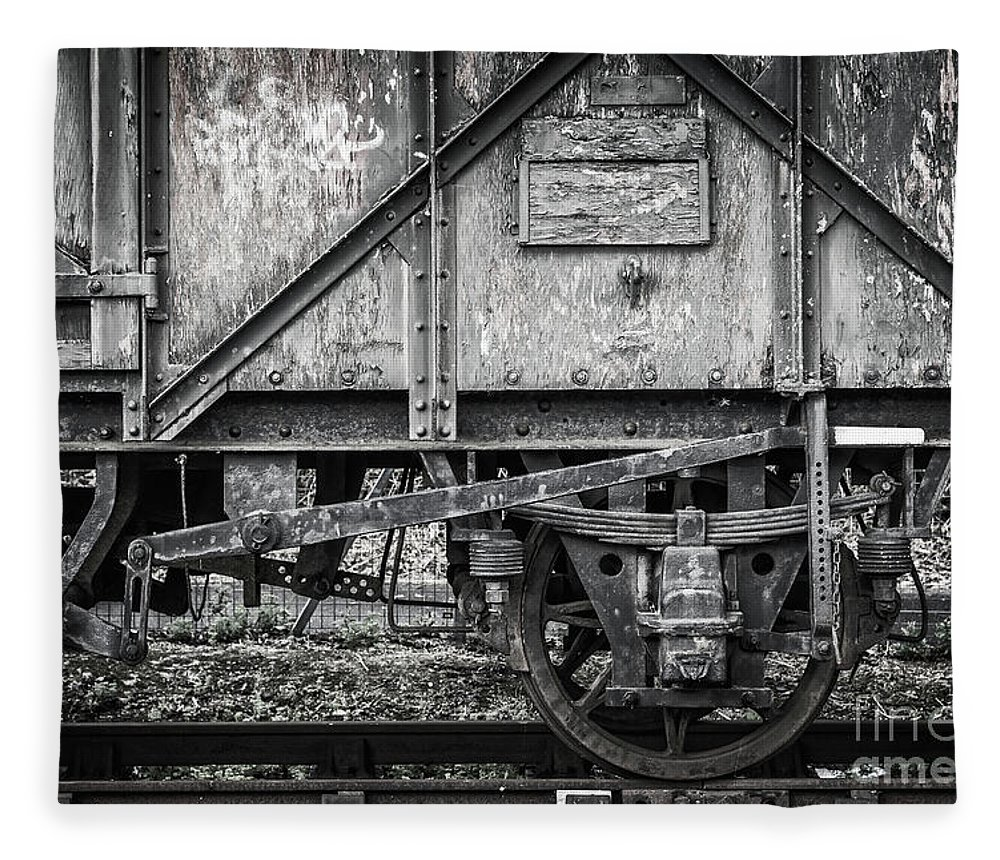 Train Fleece Blanket featuring the photograph Old Train In Bristol by Delphimages Photo Creations