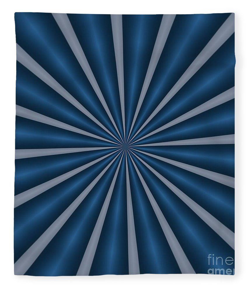Blue Fleece Blanket featuring the digital art Ornament Number 11 by Alex Caminker
