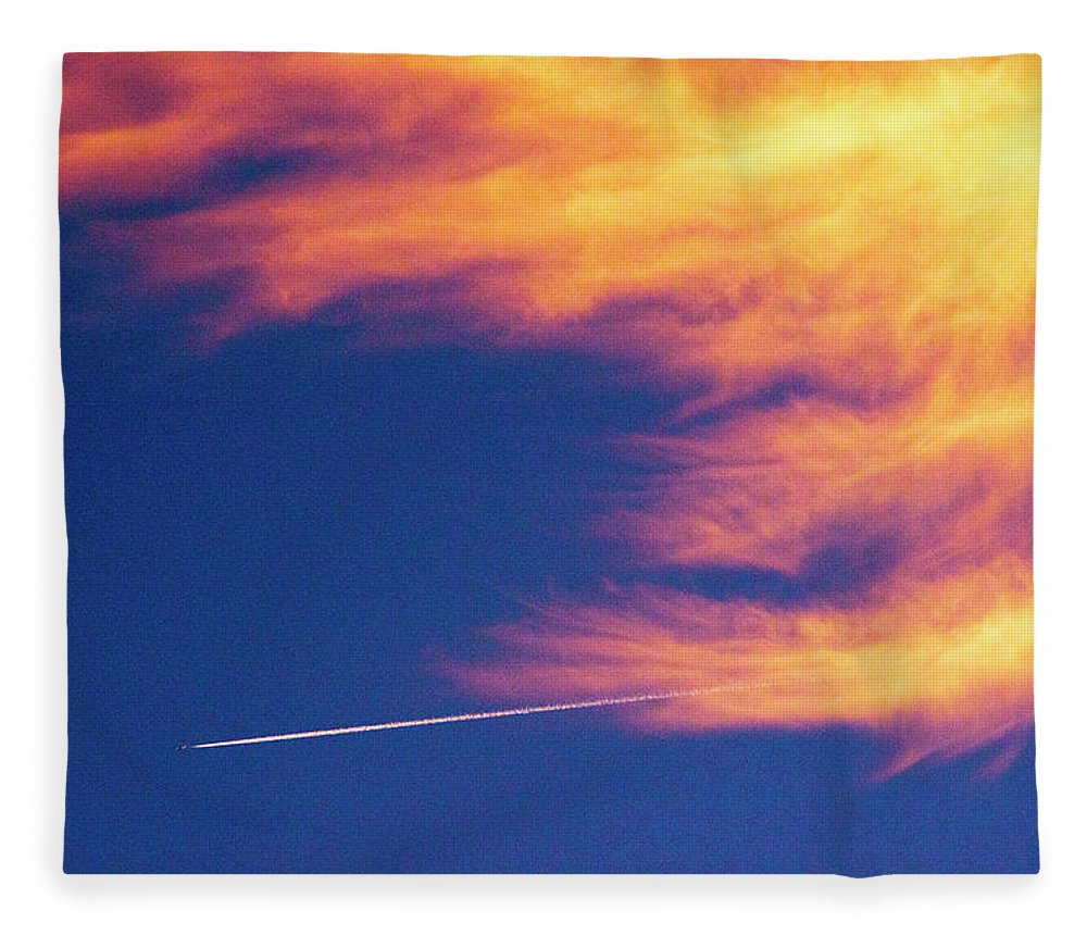 D1-l-1076-d Fleece Blanket featuring the photograph Out Racing The Devil by Paul W Faust - Impressions of Light