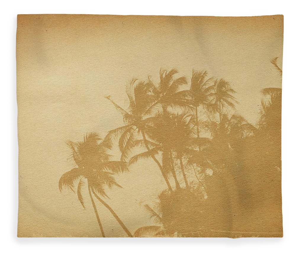 Aging Process Fleece Blanket featuring the photograph Palm Paper by Nic taylor