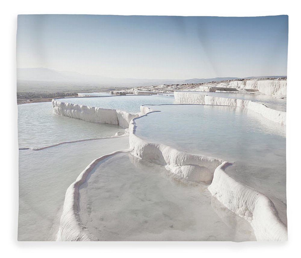 Mineral Fleece Blanket featuring the photograph Pamukkale by Phooey