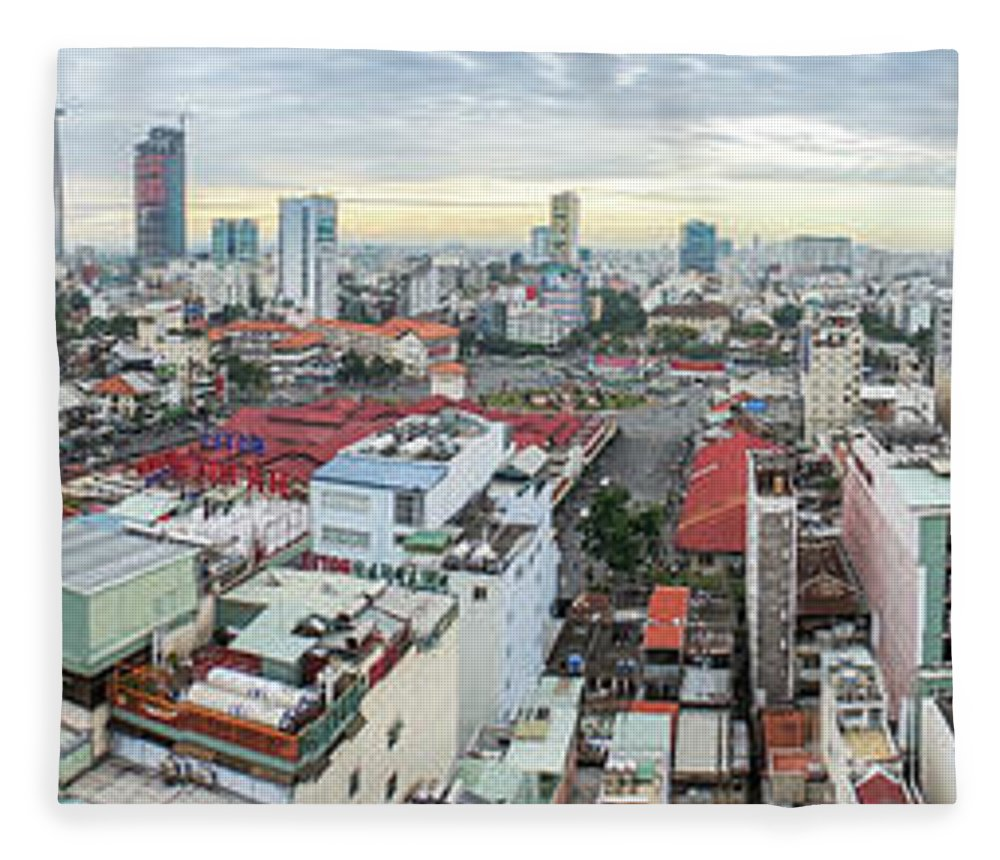 Ho Chi Minh City Fleece Blanket featuring the photograph Panorama Of Ho Chi Minh City by By Thomas Gasienica