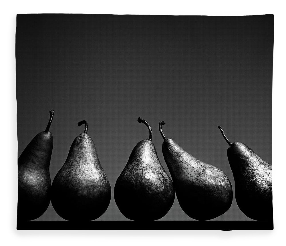 Five Objects Fleece Blanket featuring the photograph Pears by Eddie O'bryan