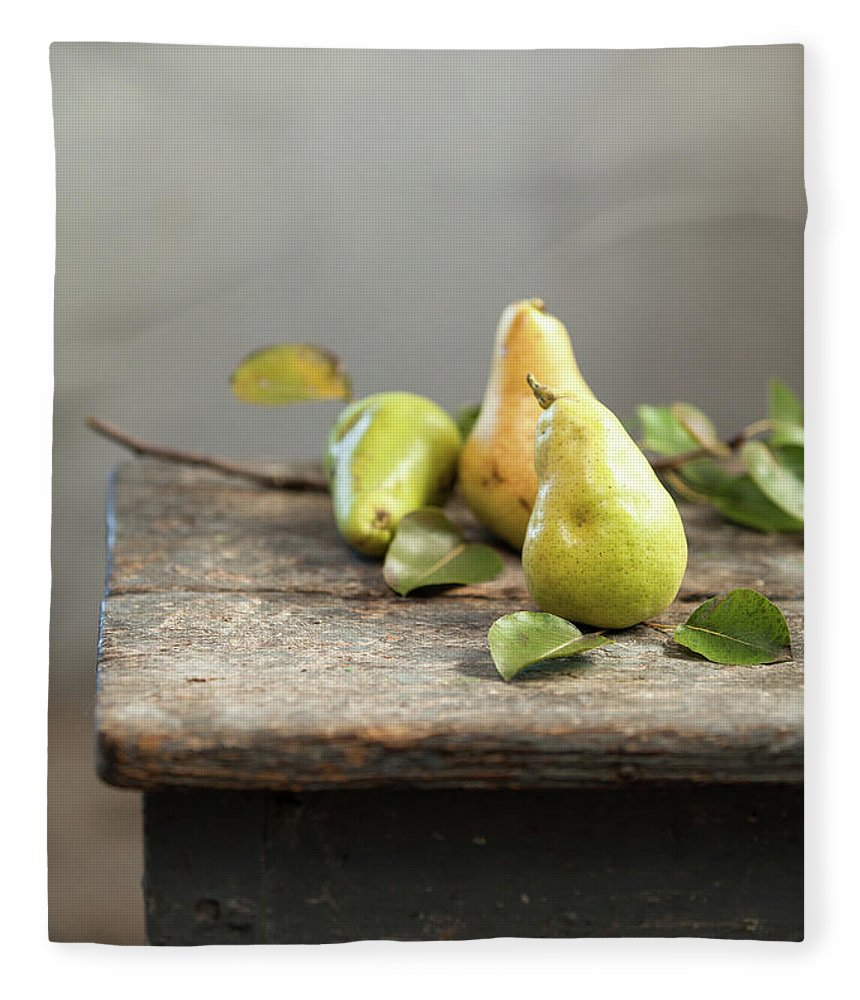 Vitamin Fleece Blanket featuring the photograph Pears by Sanjeri