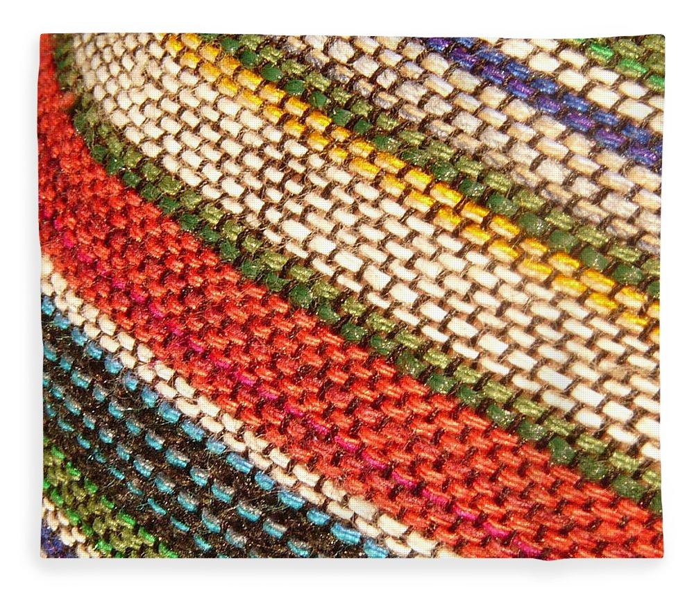 Art Fleece Blanket featuring the photograph Peruvian Fabric Art by Images By Luis Otavio Machado