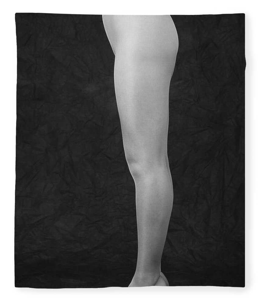 Cool Attitude Fleece Blanket featuring the photograph Photography Of Standing Womans Legs by Daj