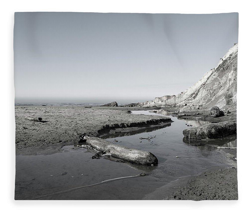 California Fleece Blanket featuring the photograph Point Arena Beach California by Betsy Knapp