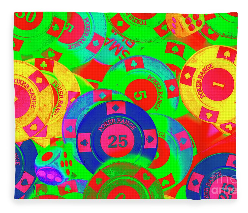 Gambling Fleece Blanket featuring the photograph Poker Stacks by Jorgo Photography - Wall Art Gallery