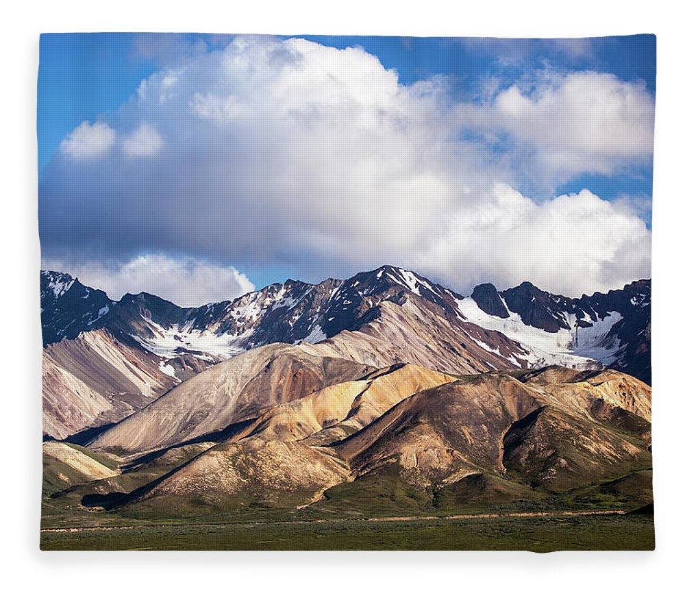 Tranquility Fleece Blanket featuring the photograph Polychrome Overlook View by Daniel A. Leifheit