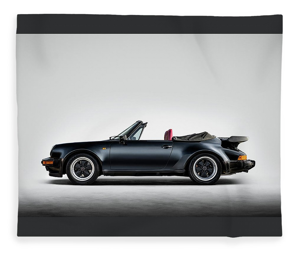 Porsche 911 Fleece Blanket featuring the digital art Porsche 911 Cabrio by Douglas Pittman