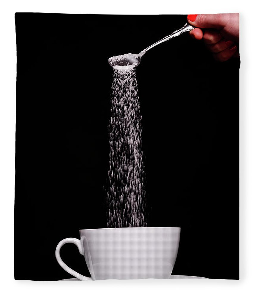 Sugar Fleece Blanket featuring the photograph Pouring Sugar by Stock colors