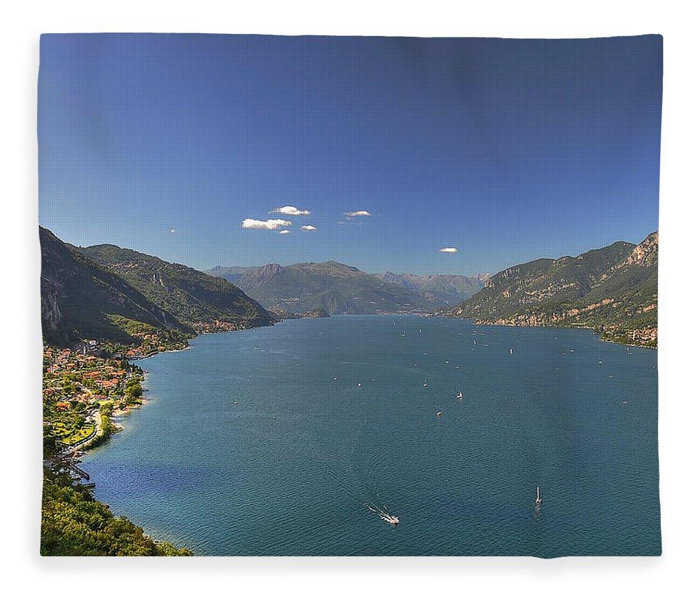 Scenics Fleece Blanket featuring the photograph Quel Ramo Del Lago Di Como by Filippo Maria Bianchi