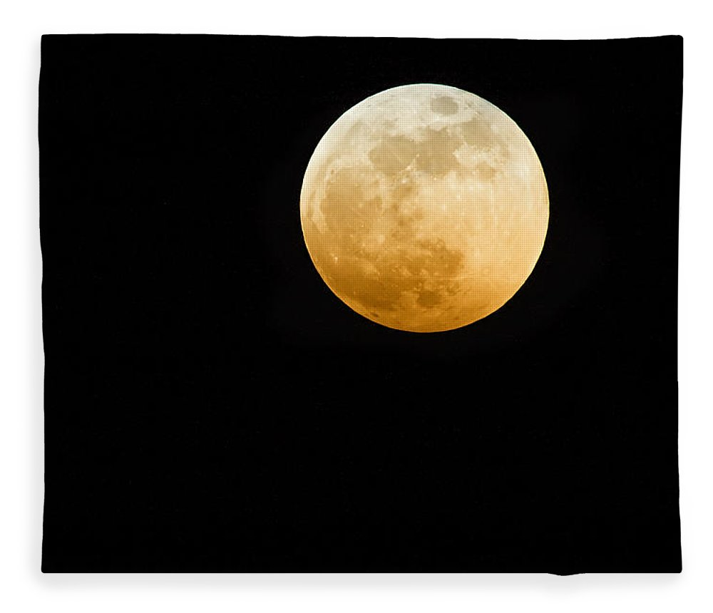 Shadow Fleece Blanket featuring the photograph Red Moon by Stevedangers