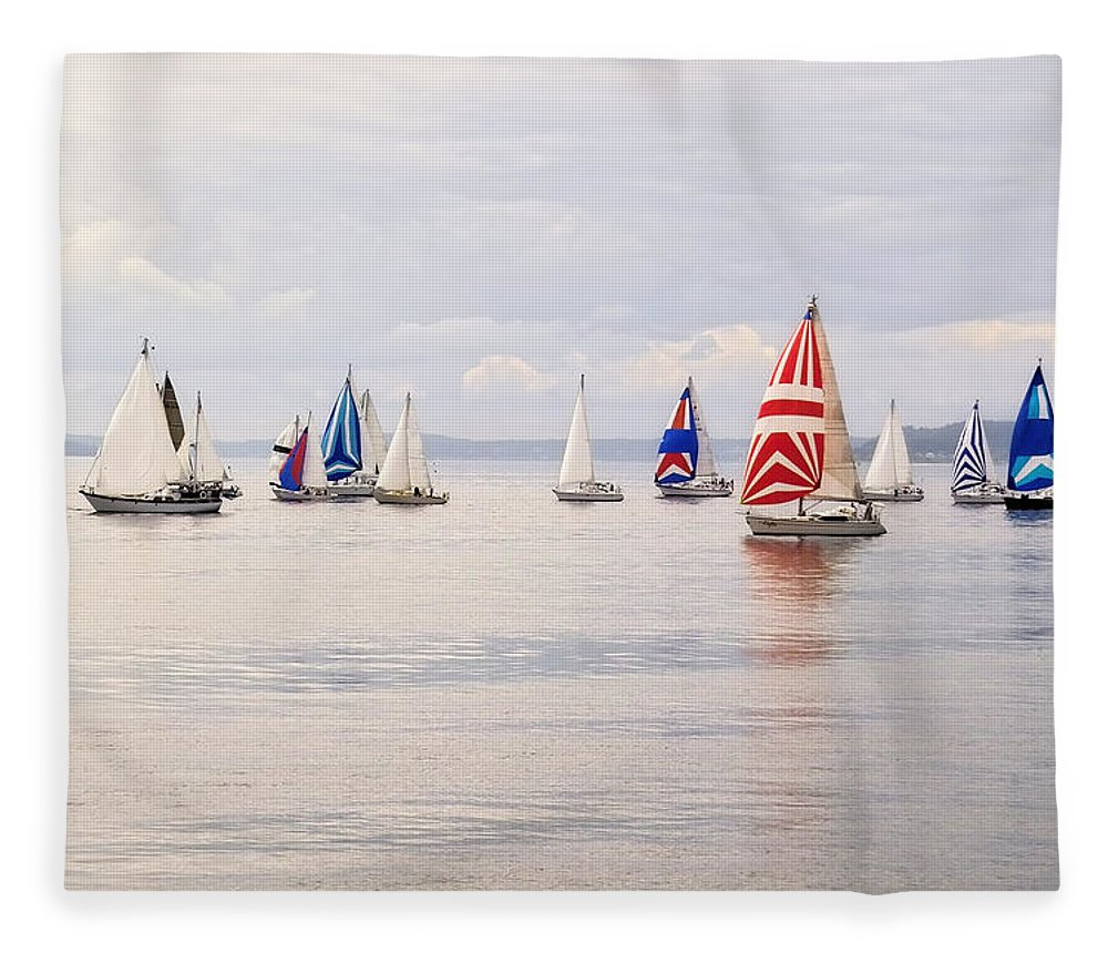 Curve Fleece Blanket featuring the photograph Regatta by Jhorrocks