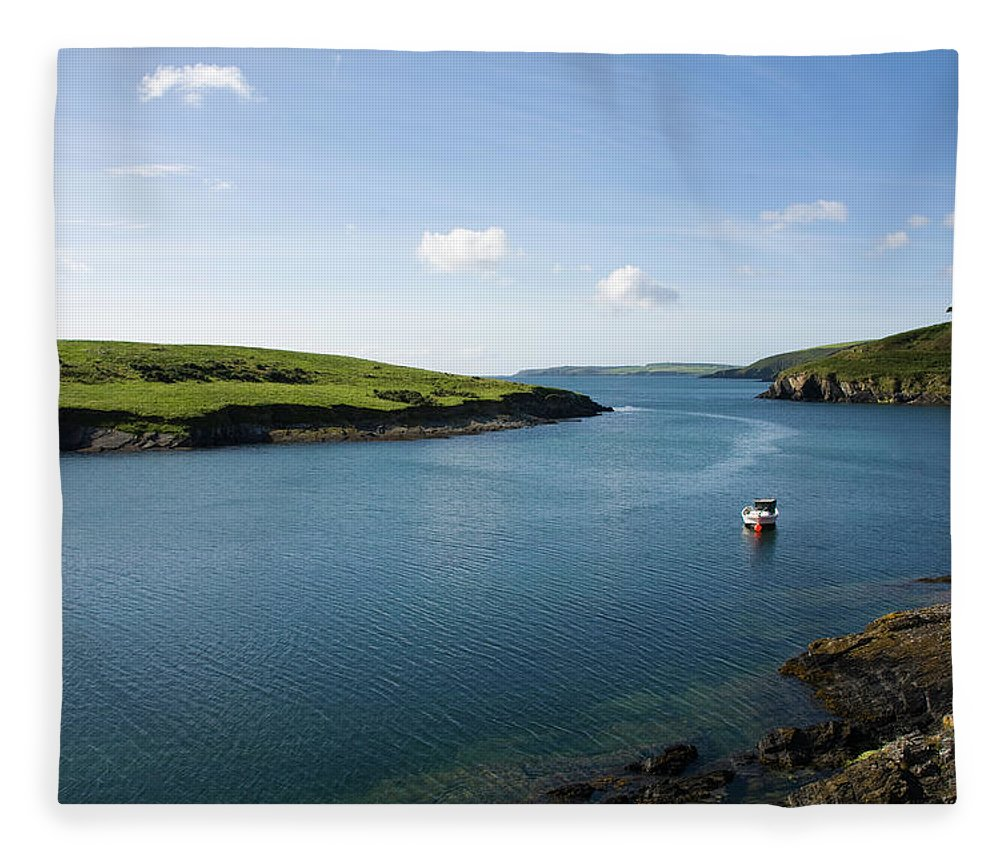 Scenics Fleece Blanket featuring the photograph Republic Of Ireland, County Cork, Inlet by David Epperson