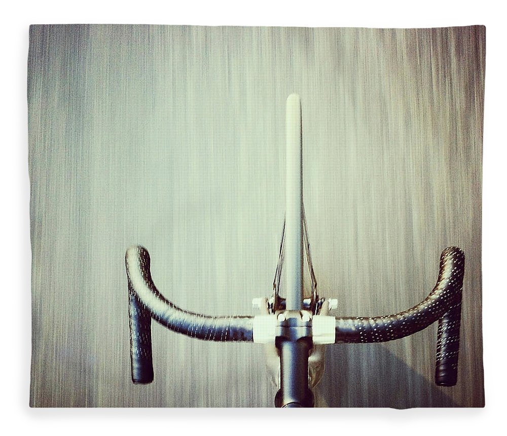 San Francisco Fleece Blanket featuring the photograph Riding Bicycle by Joey Celis
