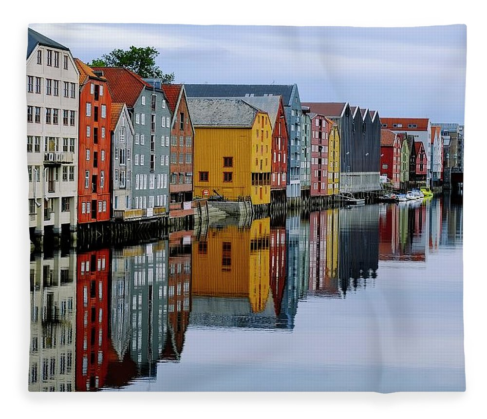 Tranquility Fleece Blanket featuring the photograph River Accommodation 0.2 by Nir Leshem
