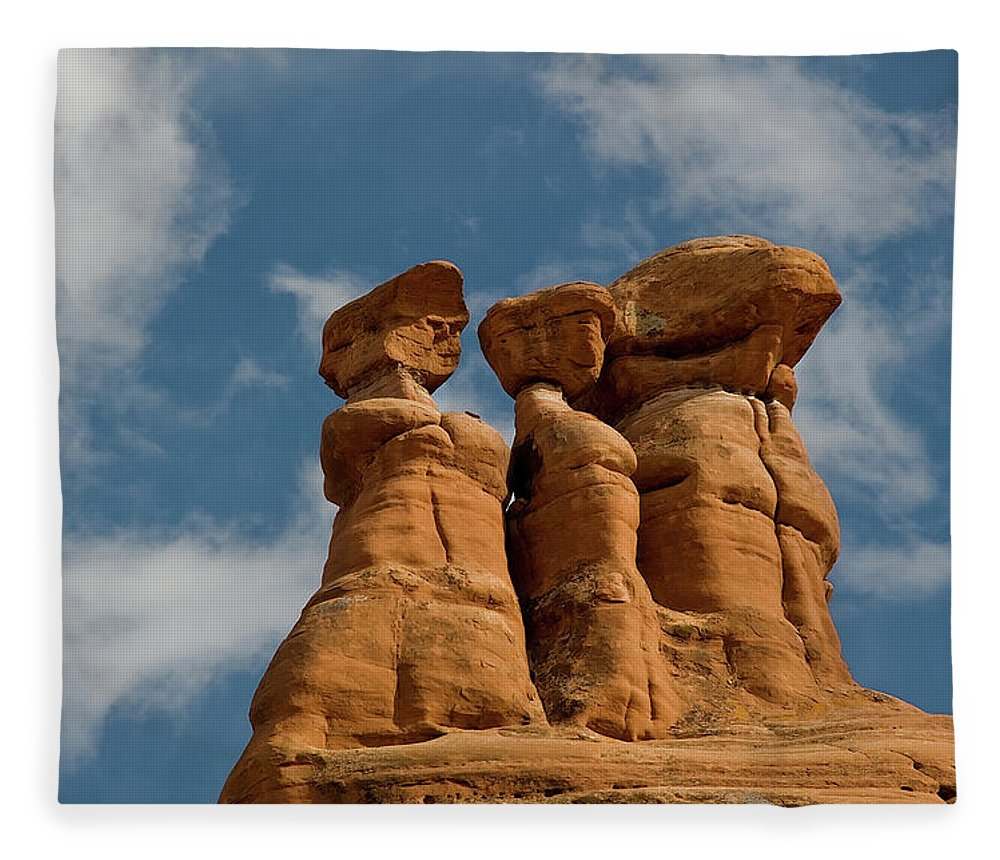 Geology Fleece Blanket featuring the photograph Rock Formation In Arches National Park by Amateur Photographer, Still Learning...