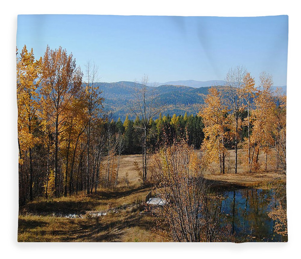 Montana Fleece Blanket featuring the photograph Rural Montana by Vallee Johnson