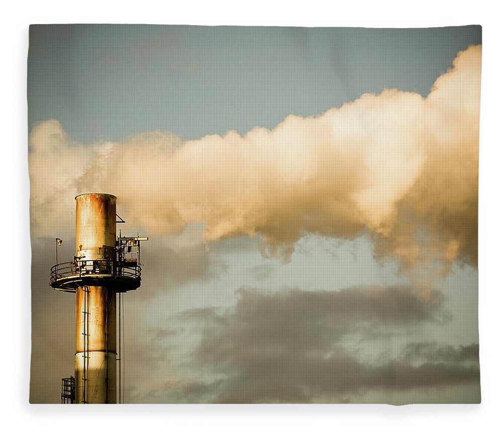 Natural Gas Fleece Blanket featuring the photograph Rust Stack by Halbergman