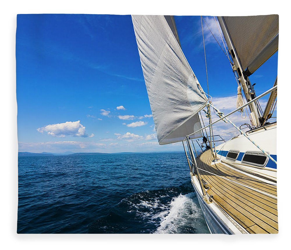 Scenics Fleece Blanket featuring the photograph Sailing by Gaspr13
