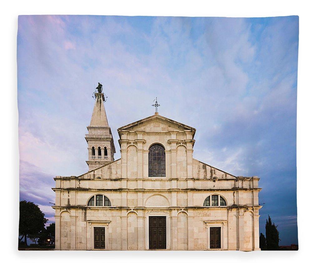 Outdoors Fleece Blanket featuring the photograph Saint Euphemia Church by David Madison