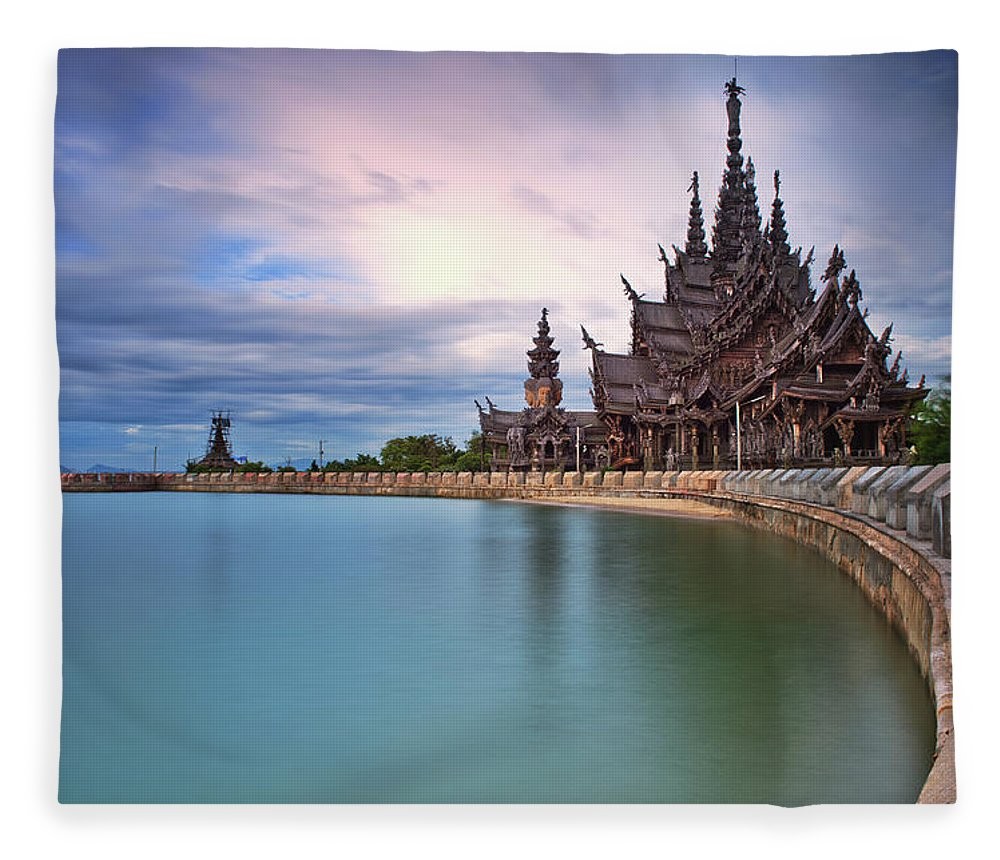 Tranquility Fleece Blanket featuring the photograph Sanctuary Of Truth by Nutexzles