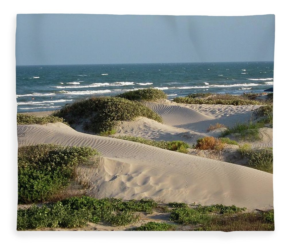 Tranquility Fleece Blanket featuring the photograph Sand Dunes by Joe M. O'connell