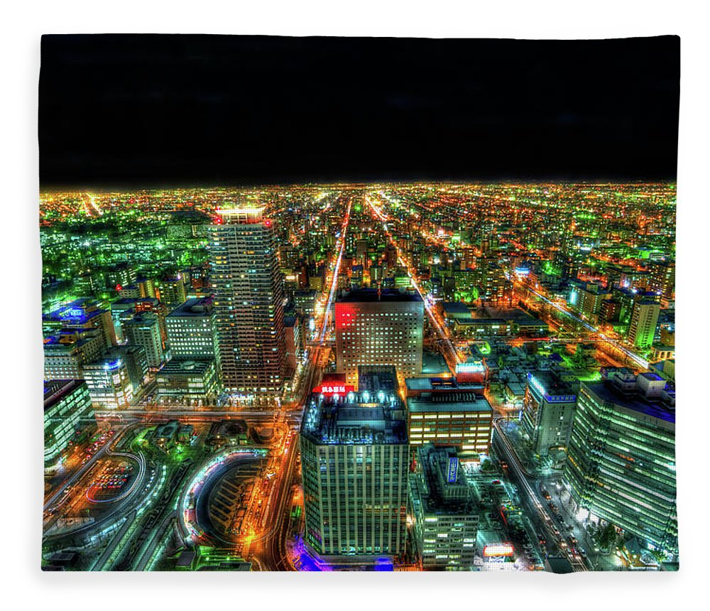 Outdoors Fleece Blanket featuring the photograph Sapporo by Photography By Eydie Wong