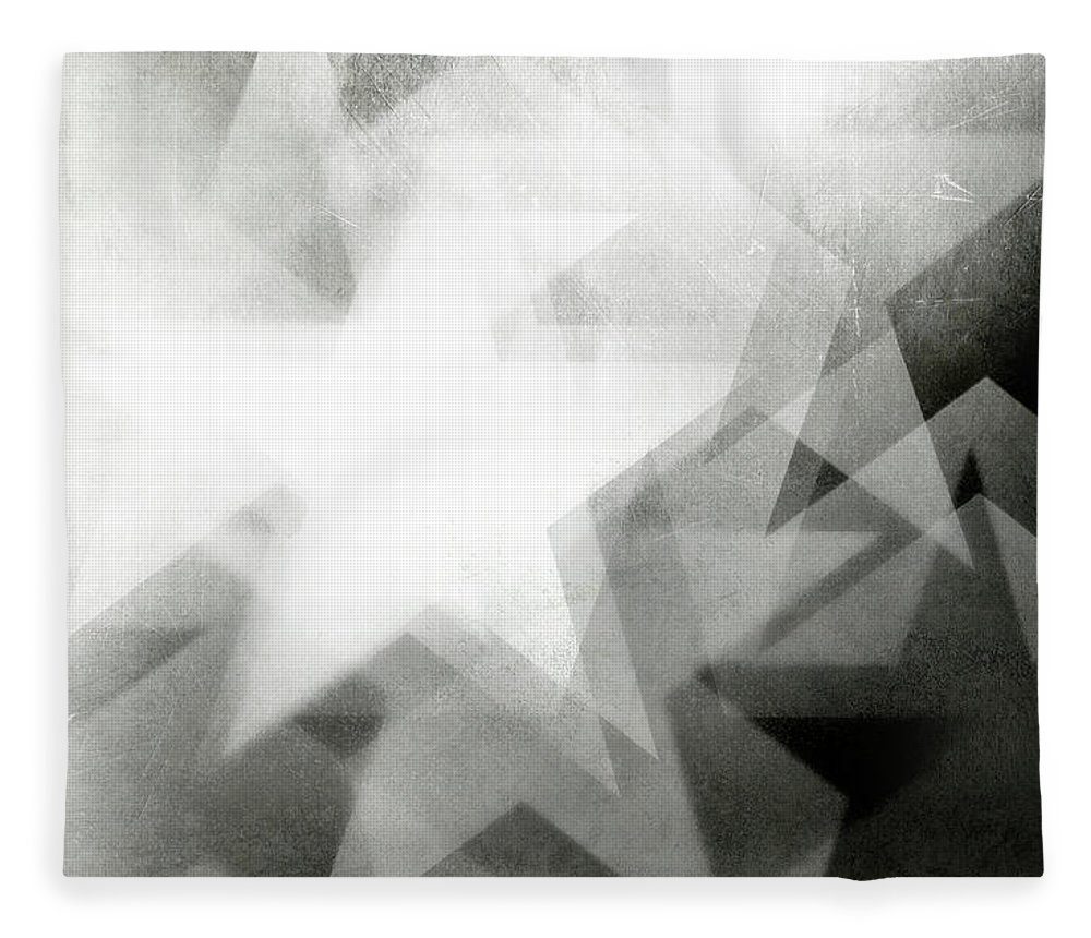 Art Fleece Blanket featuring the photograph Scratchy Star Background by Loudredcreative