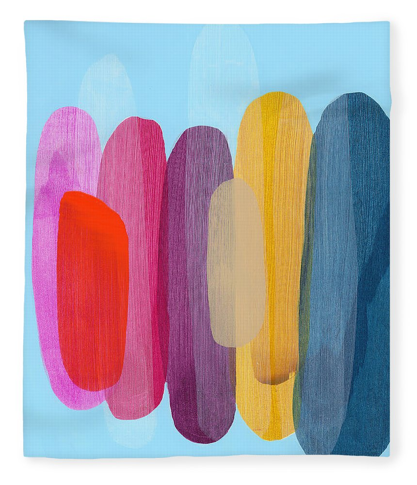 Abstract Fleece Blanket featuring the painting Sister 02 by Claire Desjardins
