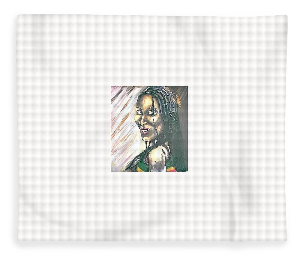 Fleece Blanket featuring the painting Sister by Andrew Johnson