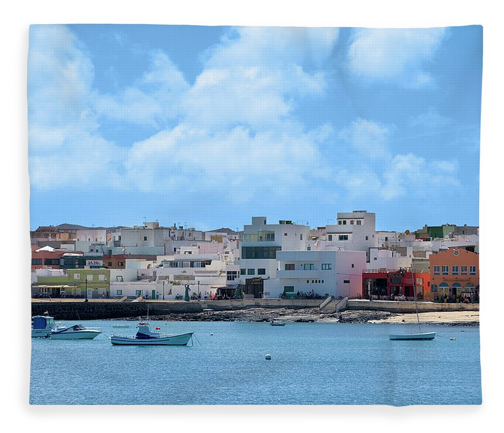 Fuerteventura Fleece Blanket featuring the photograph Spain, Canary Islands, Fuerteventura by Manchan